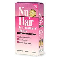 Nuhair hair regrowth tablets for women, 50 ea