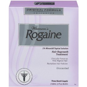Rogaine for women hair regrowth treatment, regular strength unscented, 2-ounce bottles (pack of 3)