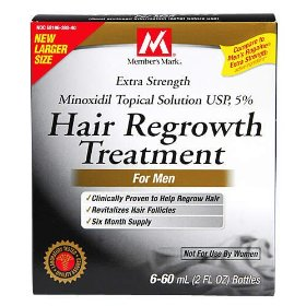 Member's mark - hair regrowth treatment for men with minoxidil 5% extra strength, 6 month supply