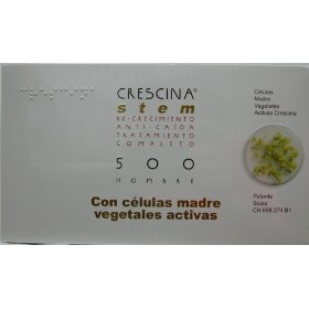 Crescina stem complete treatment: re-growth & anti-hairloss 500 men (labo): indicated in cases of incipient baldness