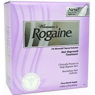 Rogaine for women, 2% minoxidil, 3- 60 ml bottles