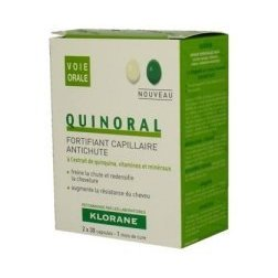 Klorane quinoral hair strengthening supplements 2x30 capsules 1 month supply