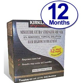 Minoxidil for men 5% minoxidil hair regrowth treatment - kirkland brand - 12 months supply unscented 1 year
