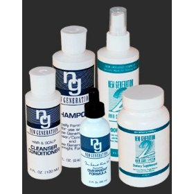 5-piece set - new generation original shampoo, cleanser/conditioner, overnight formula, grooming mist, dietary supplements