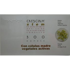 Crescina stem complete treatment: re-growth & anti-hairloss 300 men (labo): indicated in cases of advanced thinning hair