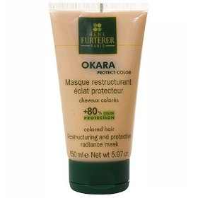 Rene furterer okara restructuring & protective radiance mask - color-treated hair - 5.1 oz