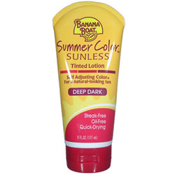 BANANA BOAT Summer Color Sunless Tinted Lotion Deep Dark 6oz/175ml