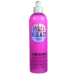 BED HEAD TIGI Dumb Blonde Shampoo for After Highlights Damaged or Chemically Treated Hair for Blondes, Brunettes & Redheads 12oz/350ml