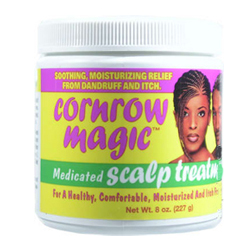 CORNROW Magic Medicated Scalp Treatment Soothing, Moisturizing Relief from Dandruff & Itch 8oz/227g