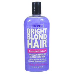 FREEMAN Bright Blond Hair Conditioner Violet & Gardenia for Color Treated or Natural Blonde Hair 12oz/354ml