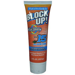 FRUIT OF THE EARTH Block Up  SPF 15 Full Spectrum Protection with Aloe Vera 8oz/237ml