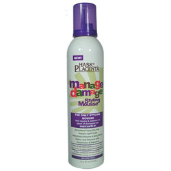 HASK Placenta Manage Damage Styling Mousse 9 oz