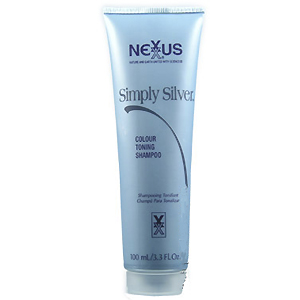 NEXXUS Simply Silver Color Toning Shampoo Hair 3.3oz