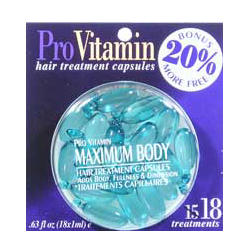 PRO VITAMIN Hair Treatment Capsules Maximum Body Adds Body Fullness & Dimension 0.63/18x1ml (Quantity: 18 Treatments0