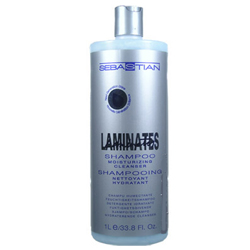 SEBASTIAN Laminates Shampoo Moisturizing Cleanser for Dry, Frizzy & Chemically Treated Hair 33.8oz/1L