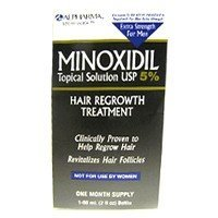 Mens minoxidil 5 % extra strength hair regrowth treatment solution - 2 oz