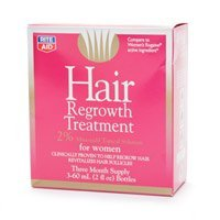 Rite aid regular strength hair regrowth treatment for women, triple pack 1 pack