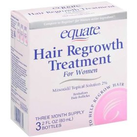 Equate - hair regrowth treatment for women with minoxidil 2% extra strength, 3 month supply
