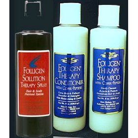 Folligen solution therapy spray plus shampoo & conditioner