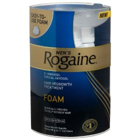 Rogaine for men hair regrowth treatment, easy-to-use foam, 2.11-ounce cans (pack of 3)
