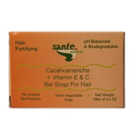 Sante natural hair fortifying bar soap for hair - scalp treatment with cacahuananche + vitamin e & c (1 bar of 3.5 oz) - for severe thinning hair with an oily scalp