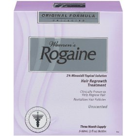 Rogaine regular strength hair regrowth treatment for women, (3-2oz bottles)