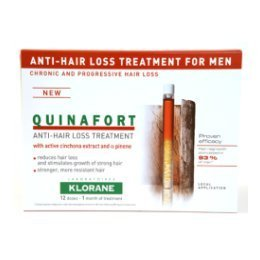 Klorane quinafort anti-hair loss treatment for men 12 doses - 1 month supply
