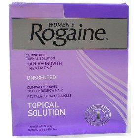 Women's rogaine-original unscented hair regrowth formula, 3 month supply
