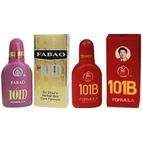 Hair loss treatment, fabao 101d & 101b, 2 bottles each