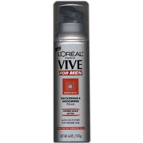 L'oreal vive for men thickening & grooming foam for fine or thinning hair 6 oz.
