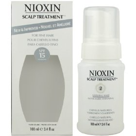 Nioxin scalp treatment spf 15 for fine hair system 2, natural hair | noticeably thinning