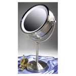 ZADRO Dual Sided, Lighted Fluorescent Pedestal Vanity Make-Up Mirror (Model:ZLD48)