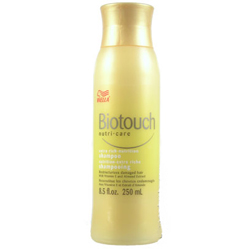 WELLA Biotouch Nutri Care Extra Rich Shampoo Restructurizes Damaged Hair with Vitamin E & Almond Extract 8.5oz/250ml