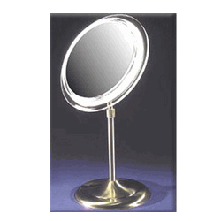 ZADRO Surround Light Lighted Fluorescent Single Sided Vanity Make-Up Mirror (Model:SA55 Brass)